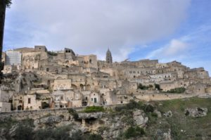 Matera is built around a valley where the original dwellings were caves, carved out as dwellings.